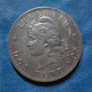 Argentina Bronze Coin 2 Centavos,  Km33 Au 1883 (patacon) photo