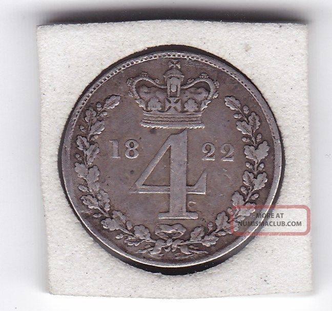 1822 King George Iv Maundy Four Pence Silver 92 5 Coin
