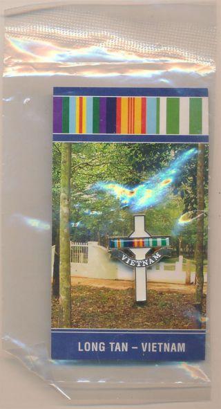Australia Vietnam War - Long Tan Memorial Cross Enamelled Pin In Packet photo