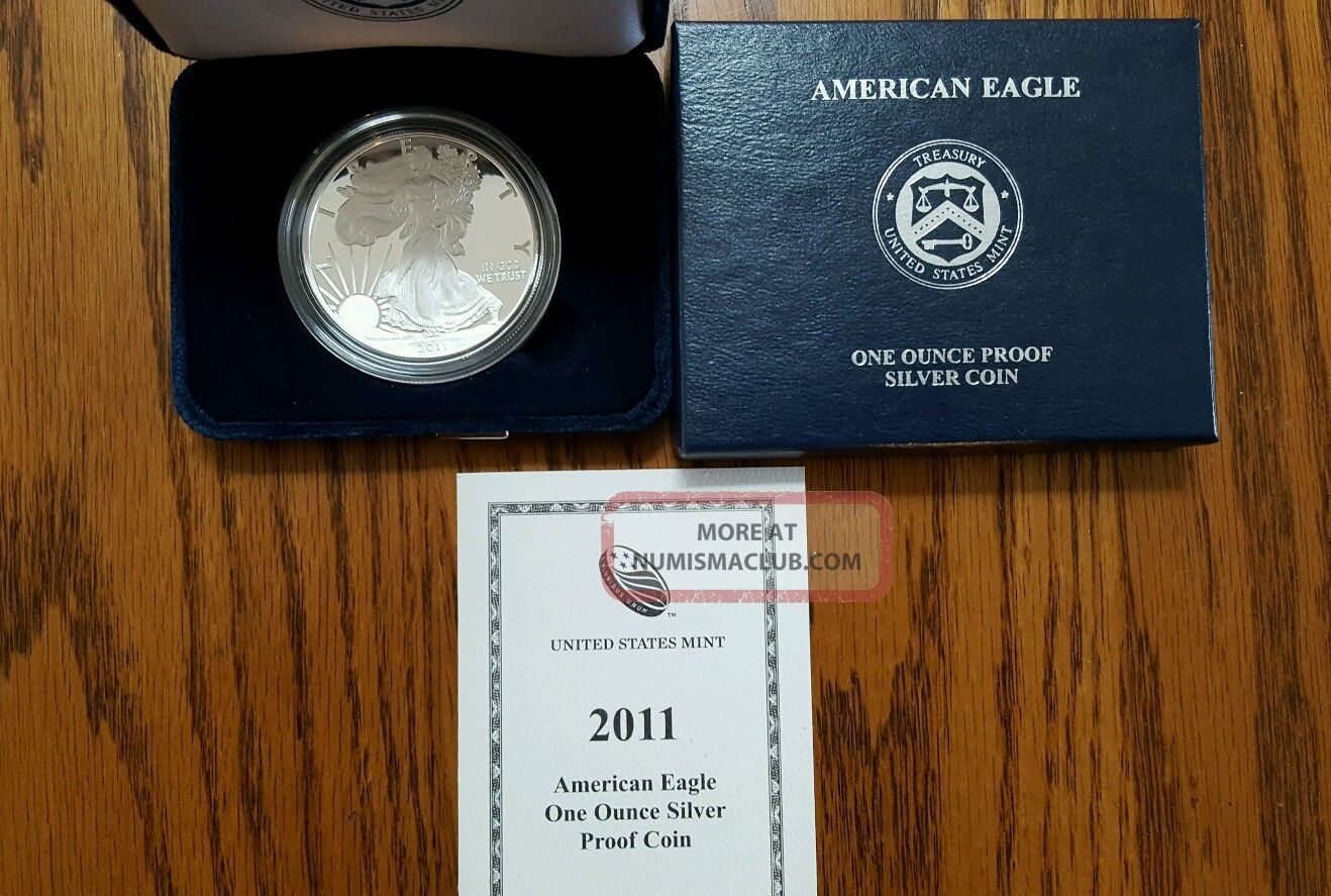 2011 U S American Eagle One Ounce Bullion Silver Proof Coin