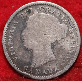 1882a Canada Silver Ten Cents Foreign Coin S/h photo
