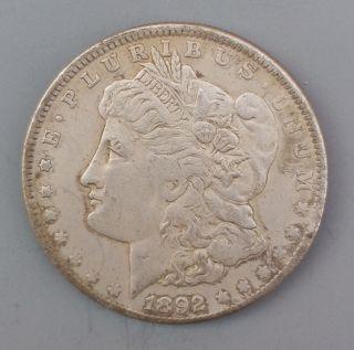 1892 - Cc Us Morgan Silver Dollar $1 - Dollar Uncirculated photo