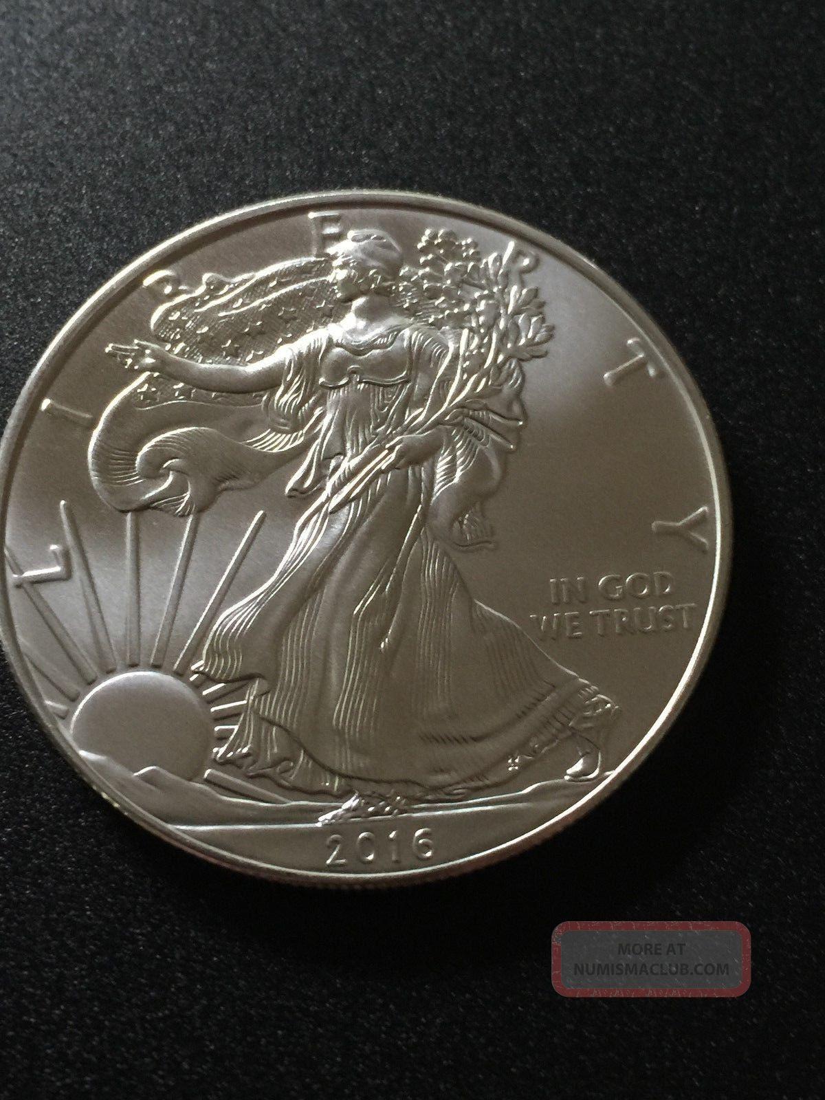 2016 American Eagle Liberty Usa 1 Troy Oz 999 Silver