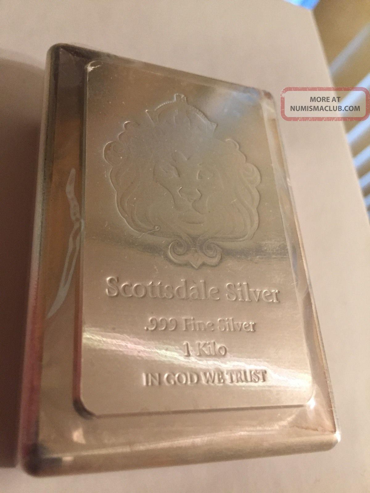 1 Kilo Scottsdale Stacker 174 Silver Bar 999 Silver Bullion A131