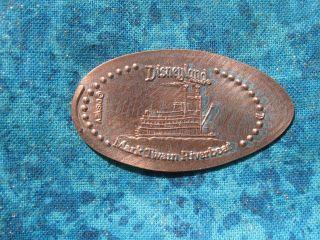 Disneyland Mark Twain Riverboat Elongated Penny Pressed Smashed 20d photo