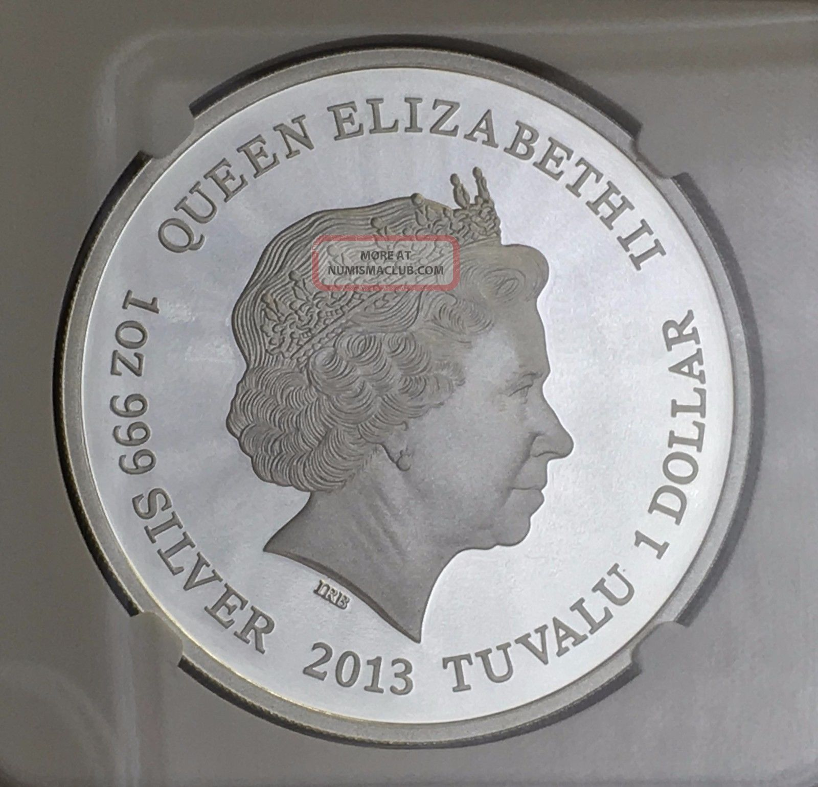 2013 Tuvalu Tasmanian Devil Silver Coin Very Rare Ngc Pf70