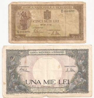 Romania,  500 Lei 1941,  1000 Lei 1941, photo