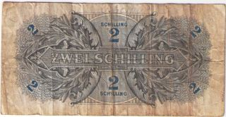 Paper Money Banknote 2 Zwei Schilling Oesterreich Austria 1944.  Vg.  Pick: P - 104b photo