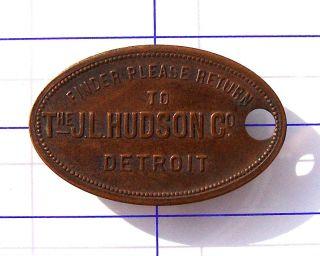J.  L.  Hudson Detroit Key Check Finder Return To Very Old photo