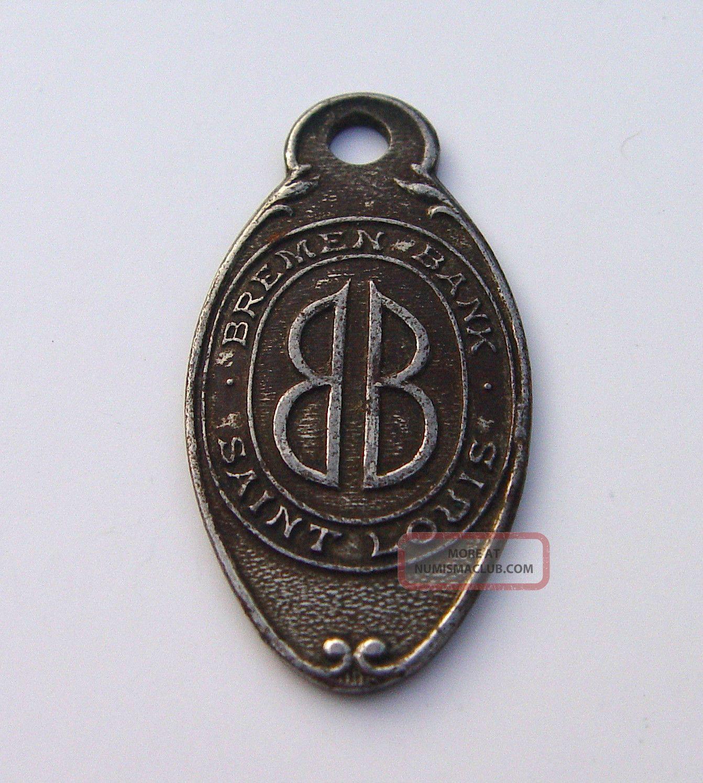 1890s Bremen Bank Key Check Finder Return To St.  Louis Missouri Exonumia photo