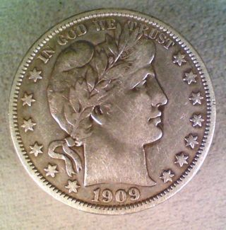 1909 Barber Silver Half Dollar (001) photo