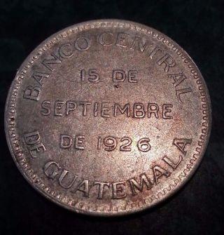 Guatemala Banco Central 1926 Coin Medal Silver Very Rare photo