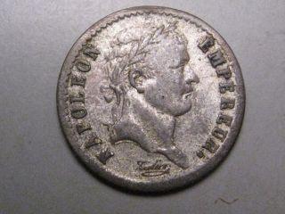 1811 A Silver 1/2 Franc.  France.  Napoleon Bonaparte.  Middle Grade.  Paris photo
