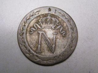 Rare 1809 H 10 Centimes.  France.  Napoleon Bonaparte