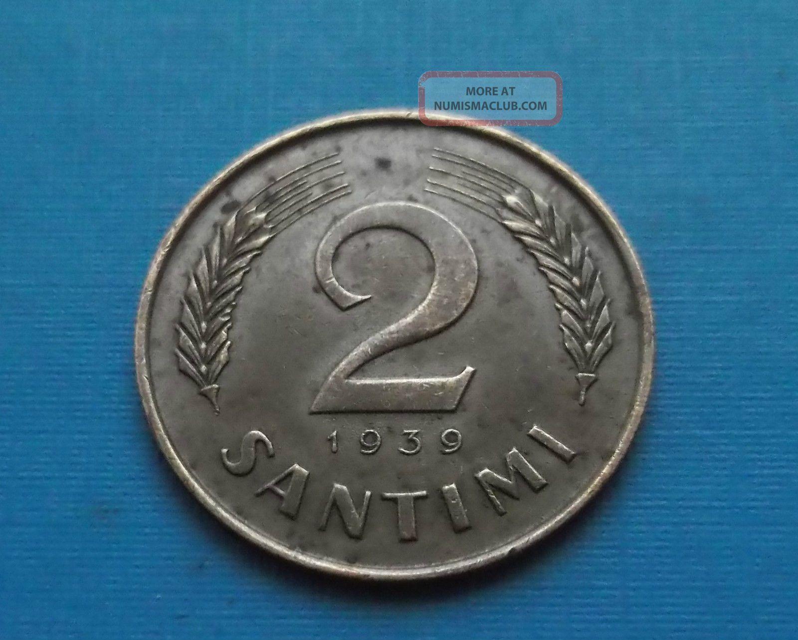 Latvia 2 Santimi 1939 Europe photo