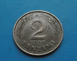 Latvia 2 Santimi 1939 photo