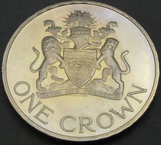 Malawi 1 Crown 1966 Proof - Day Of The Republic - 3053 猫 photo