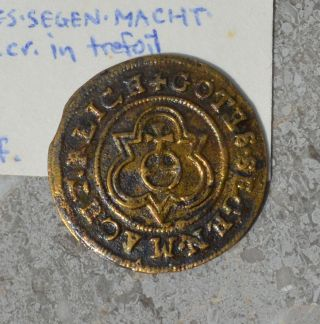 1586 - 1635 Hans Krauwinckel Ii Token Nuremburg German States Detail Ek - 48ff photo