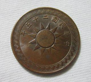 China,  Republic,  1 Cent (1 Fen),  1936. photo