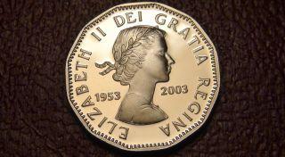 1953 - 2003 Canada Sterling Silver Proof 5¢ Coin - E.  Ii Coronation Cdn Five Cents photo