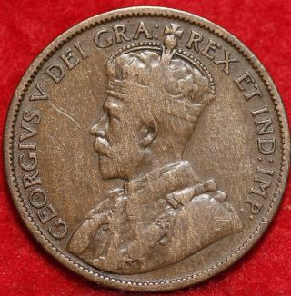 1912 Canada One Cent Foreign Coin S/h photo