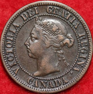 1892 Canada One Cent Foreign Coin S/h photo