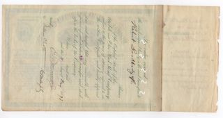 1893 Mobile & Ohio Railroad Company Stock Certificate photo