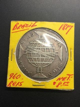 Brazil - 1817 Large Silver 960 Reis photo