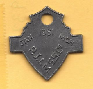 Manly Australia Transpotation Token 480 - Nd 25 Very Rare & Dated Pass photo
