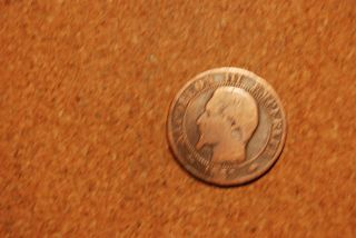 France 1855a 5 Centimes photo