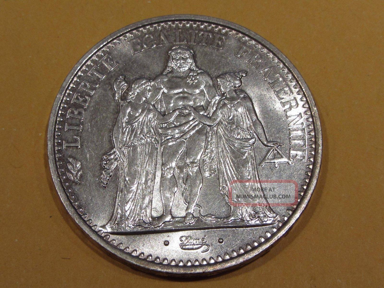 France 1967 Bu 10 Francs Silver Dollar Size Coin France photo