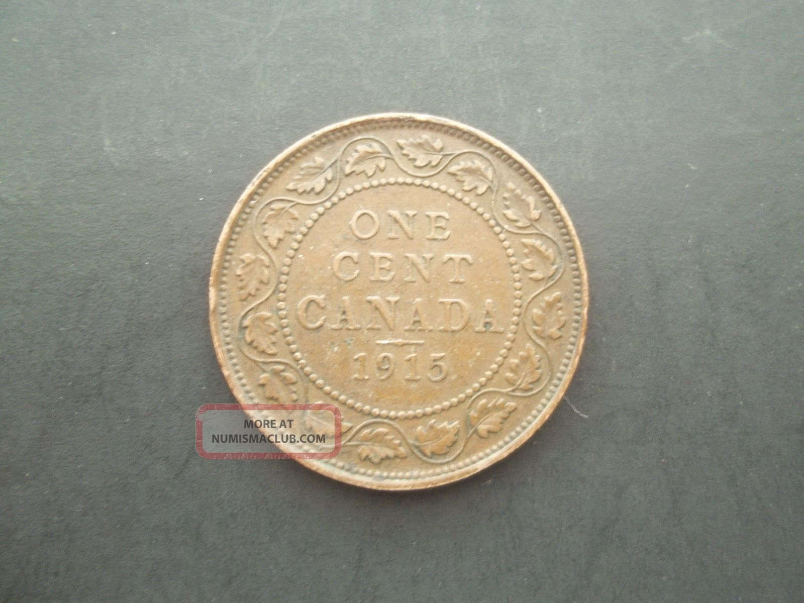 Canada 1915 1 Penny World Coin Coins: Canada photo