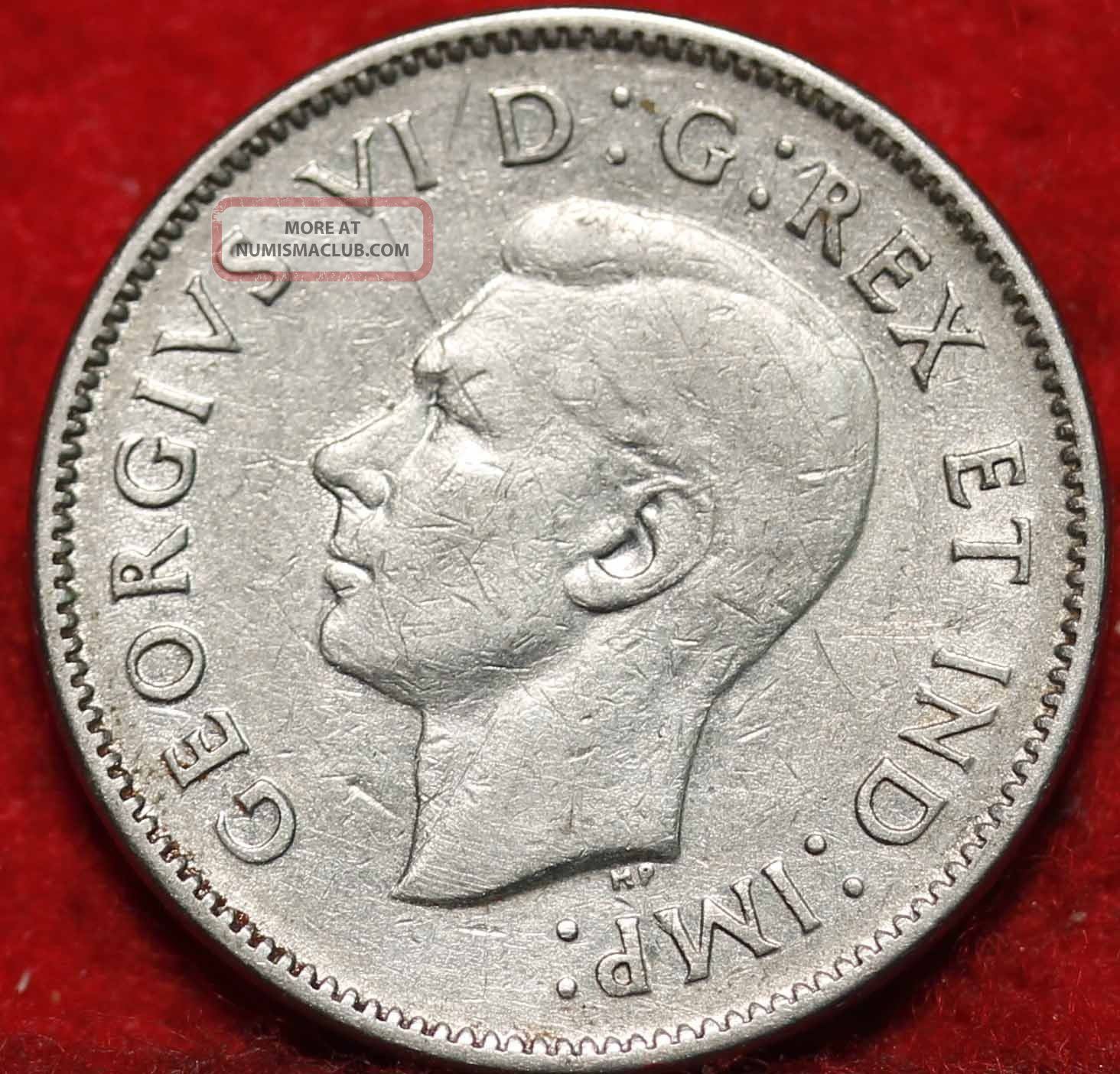 1938 Canada 5 Cents Foreign Coin S H