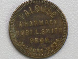 Good For 5 Cents In Trade Palouse Pharmacy Robt.  L Smith Prop.  Palouse Wash. photo