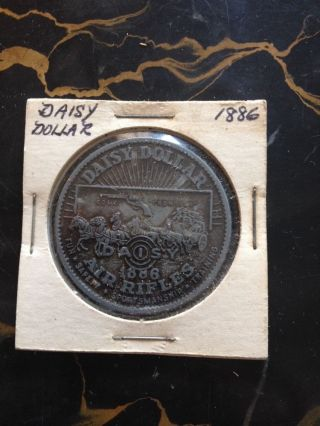 1886 Daisy Dollar Bb Gun Air Rifle Token / Medal (winchester 1873) photo