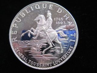 Haiti 1968 Proof Silver 10 Gourdes - General Toussaint - photo