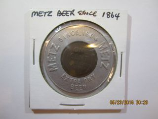 Encased 1949 Wheat Penny From Metz Beer Since 1864 photo