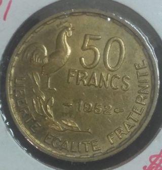 France 1952 50 Francs Upgrade Gold In Color photo
