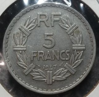 France 1947 5 Francs Aluminum photo