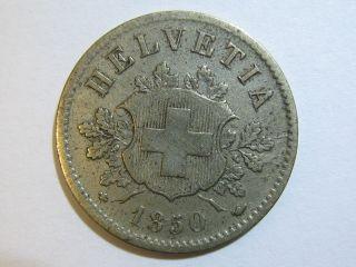 Switzerland,  Confoederatio Helvetica - 10 Rappen 1850 photo
