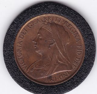 Very Sharp 1901 Queen Victoria Large One Penny (1d) Bronze Coin photo