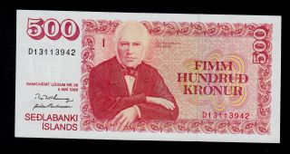 Iceland 500 Kronur L.  1986 (1994) Sign.  57 ? Pick 55 Unc. photo