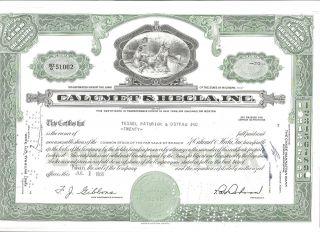 Calumet & Hecla,  Inc.  Vintage Stock Certificate Dated 1966 photo