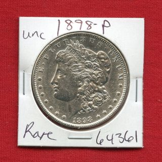 1898 Morgan Us Silver Dollar 64361 Brilliant Uncirculated Ms,  State Estate photo
