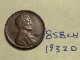 1932 - D 1c Bn Lincoln Cent (858ch) photo