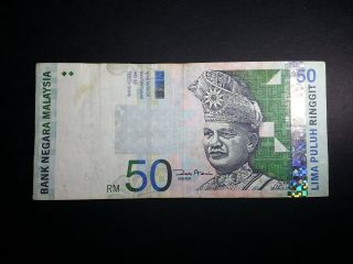 Vintagenetwork - Malaysia - 2001 - 50 Ringgit (replacement Zb Prefix) - F Vf photo
