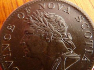 1832 N.  S.  George Iv 1/2 Penny Token Ns - 1d1 Ef - 45 -.  99 St.  - No Res. photo