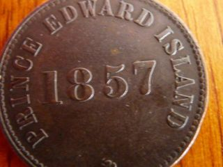 1857 Pei Self Govt.  Trade 1/2 Penny Token Pe - 7c2 Vf - 25 -.  99 St.  - No Res photo
