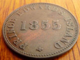1855 Pei Self Govt.  Trade 1/2 Penny Token Pe - 7a1 Vf - 30 -.  99 St.  - No Res photo