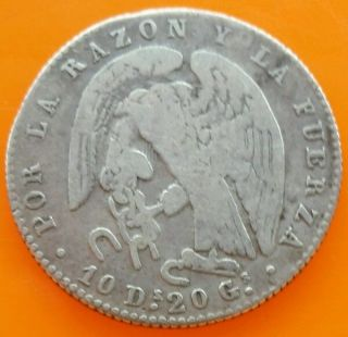Chile 1851la 2reales Silver Coin Vf photo